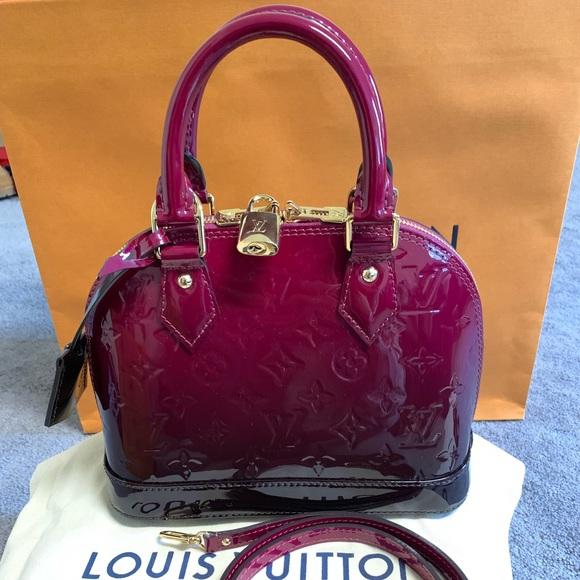 3205e2ad3b0b LE Louis Vuitton Alma BB Monogram Vernis